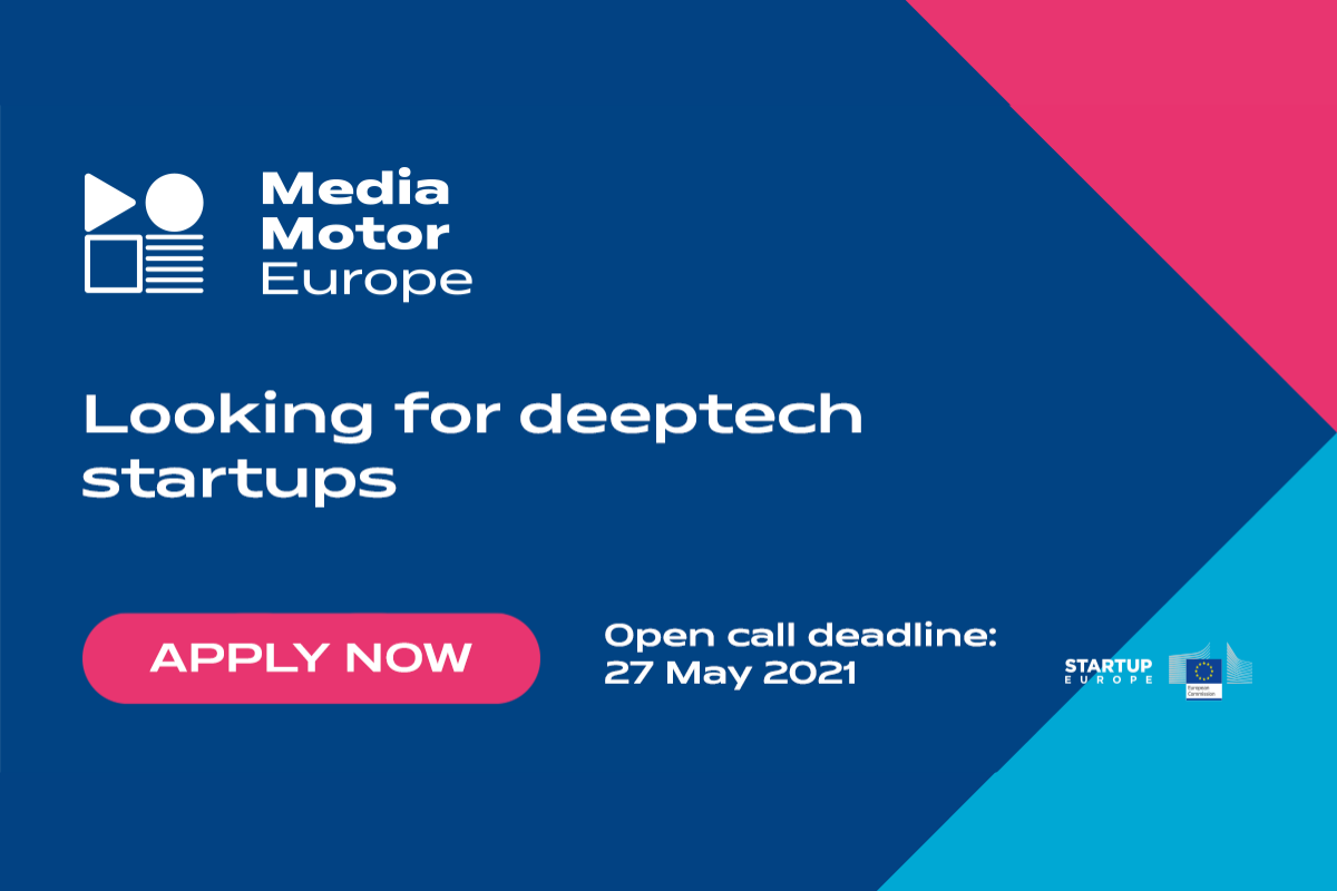 MediaMotorEurope – 3rd Open Call for media industry disruptors!